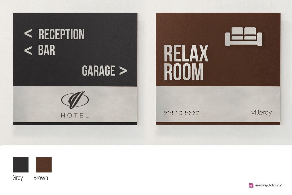 Segnaletica indicazionale hotel