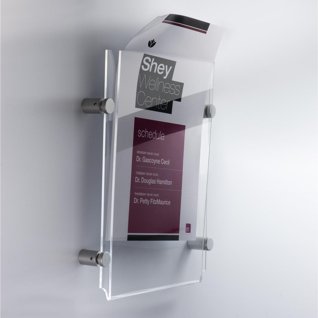 Espositore da parete Easy Pocket formato A4 verticale