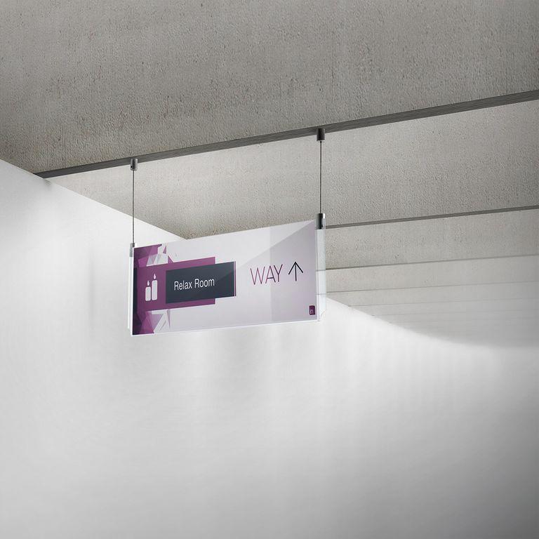 Espositore a soffitto