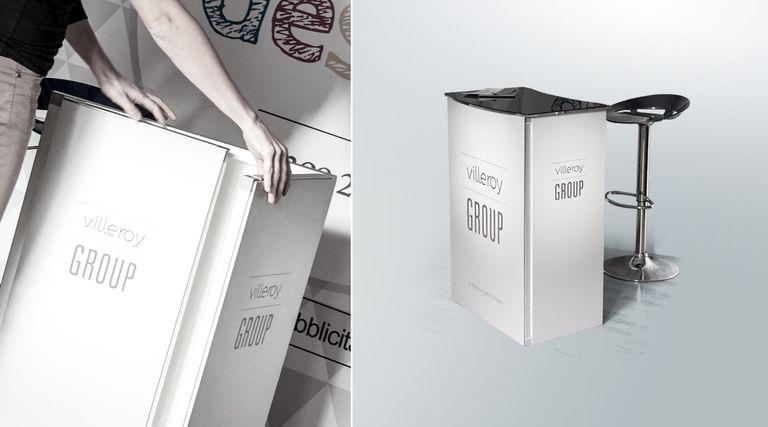 Banchetto promozionale desk in alluminio personalizzato
