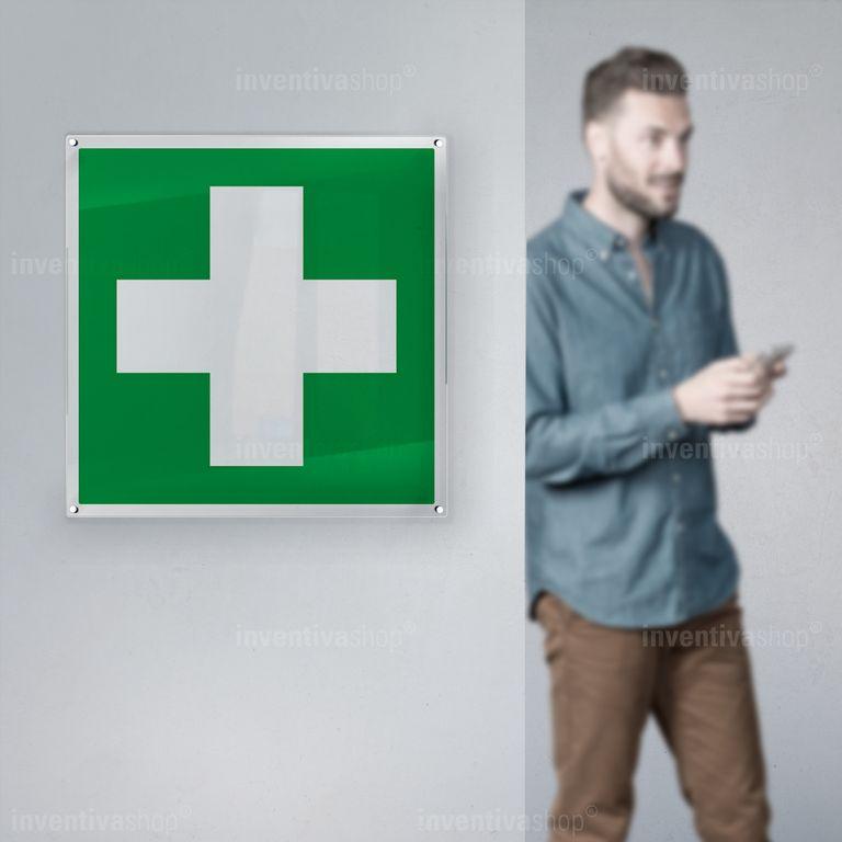 Cartello croce medica E003