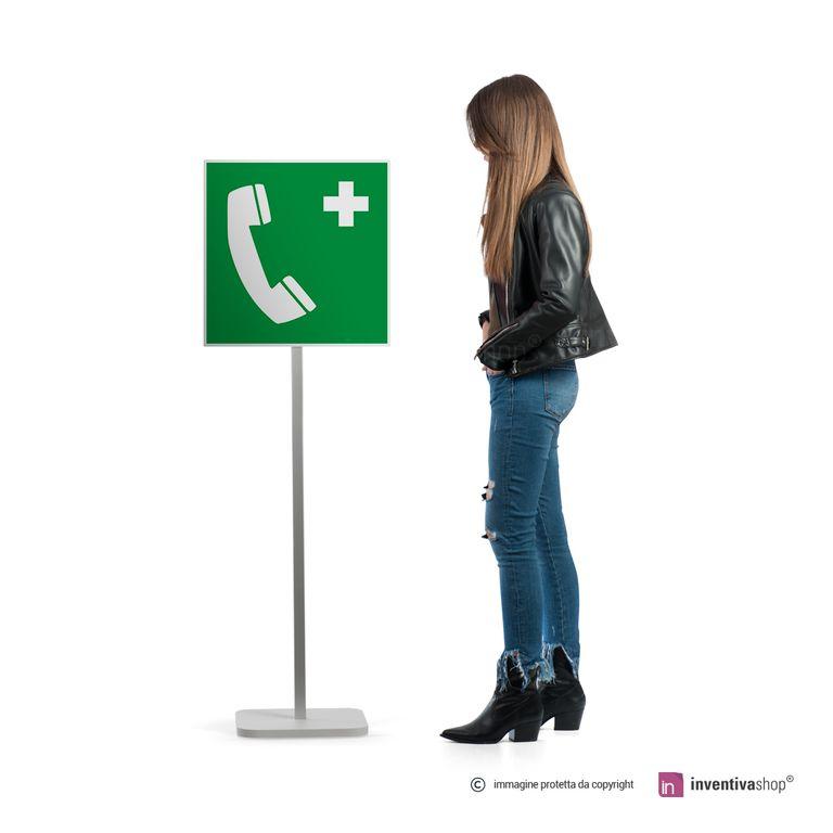 Cartello telefono di emergenza E004